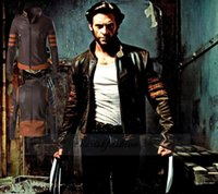 Wholesale HOT high end High quality X Men Wolverine Logans Jacket Top Coat PU Costume Cosplay Casual standing collar mans coats outwear L313 B