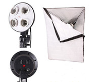 Cheap High Quality Reflector Material. light box effects Best 1 to 4 Socket Head 50 x 70cm Softbox light heal
