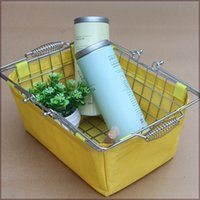 Wholesale New shopping baskets for cosmetics chrome coated bastket for Cosmetics store with sacking Wire Mesh Basket With Metal Handles N W kg