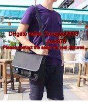 Top negro marrón azul nylon P 2VD768 negro lona mens hombro MESSENGER bolso diseñador cruz cuerpo tapa de la aleta 201446 353402 223665 387091