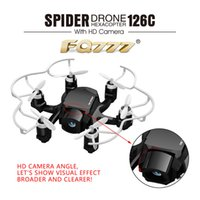 Wholesale New FQ777 C FQ777 C Mini Spider Drone with MP HD Camera RC Quadcopter G CH Axis Gyro Helicopters switch Headless