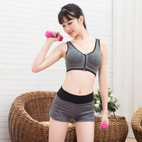 Wholesale The new Korean wireless sports bra yoga fitness yoga clothes breathable thin running AB yarn short suit