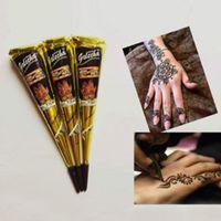 Wholesale Fresh Quality Black Henna Tattoo Paste Mehndi Hand Made Tattoo Pen Cones Natural Plants Pigment Henna Tattoo Ink