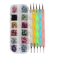 art kit for adults - Nail Marbleizing Tool Dotting Drill Pen Art Design Point Tools for Women Beauty Adult Nail art kits