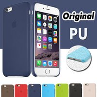 Leather apple official - For Iphone Original PU Leather Case Official Style Ultra Thin Slim Hard Cover For iPhone Plus S SE S High Quality