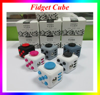 Wholesale Fidget Cube Anti anxiety Decompression Toy Adults Stress Relief Kids Toy Gift With Retail Package VS Fidget Spinner