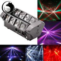 RGBW 4in1 8 * 3W LED Spider Beam tête de scène en mouvement lumière Disco DJ Party Bar effet d'éclairage