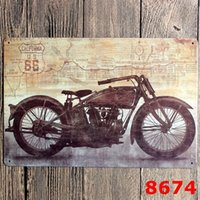Wholesale 20 vintage motorcycles Metal Tin Signs Poster Bar Home Pub Garage Wall Decor iron Paintings