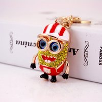 keychain for women keychains for car keys keychain 2017 New Pop Cartoon Characters Minions Car Keychains For Women Luxury Key Chains Jewelries Accessories Top Quality Whoelsale