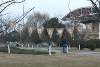 Wholesale THANK YOU Shape Burlap Banner for Party Decoration Bunting Banner For Party set