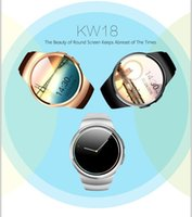 for Android English Passometer 20pcs  KW18 Smartwatch Bluetooth Wrist Watch 1.54 inches IPS Touch Screen Waterproof Phone with SIM Card SD Slot Sleep Heart Rate Monitor