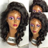 Nuevo estilo de pelo en venta con el precio al por mayor Peluca ondulada del cordón de la onda floja brasileña del pelo del lado del pelo Peluca llena ondulada del cordón Pelucas de mirada naturales