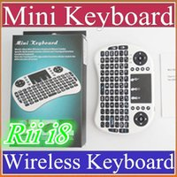b finger - 25X Wireless Keyboard rii i8 keyboards Fly Air Mouse Multi Media Remote Control Touchpad Handheld for TV BOX Android Mini PC B FS