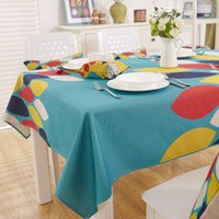 Wholesale American country style pattern beautiful table cloth linen cotton material durable and colorful tablecloths