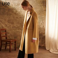 Wholesale Women s Wool Blends is pure wool woolen coat Pure hand sewing is like a feather like light of the mystery