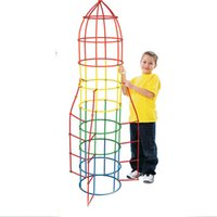 Wholesale Set Assembled Building Blocks Toy Christmas Gift Children Intelligence Develop Toy Colorful Plastic Straw Fight Inserted Blocks