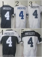 Wholesale 4 Dak Prescott Blue White Thanksgiving Throwback Football Jerseys Home Away Elite Men Women Youth Kids Stitched Free Drop Shipping