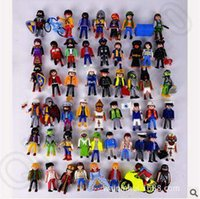 Wholesale 50 Designs set cm Playmobil Building Blocks Anime Figures Playmobil Bricks Kids Playmobil Toys Building Blocks CCA5269 set