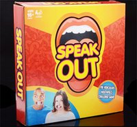 Wholesale 2016 Best selling Speak Out Game watch Ya Mouth KTV party game cards for party Christmas gift Fun toys A set of toys on the teeth