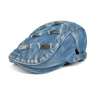 Wholesale Unisex Cotton Breathable adjustable buckle Cap Male Female Summer Spring Outdoor Sun Beret Hat Men Women Fashion Berets