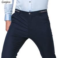 al por mayor alta gama de moda para hombre al por mayor-Venta al por mayor-Hombres de gama alta de tobillo de longitud Pantalones ocasionales Mens negocio pantalones 2016 Nuevos diseñador de moda coreano Slim Fit pant hombres de gran tamaño 28-36