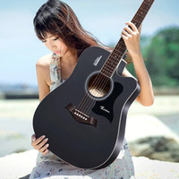 Wholesale Bags black folk guitar and inches acoustic guitar spruce rose wood basswood the new student Musical Instruments