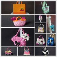 Wholesale 12Pcs Fashionable Shoulder Bag Casual Bags For Barbie Dolls Mixed Styles Doll Handbags Girl Birthday Gifts
