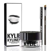Wholesale Kylie Gel Eyebrow Liner Kit BRAND Kylie Jenner Kyliner In Black Brown With Eyeliner Gel pot Brush set eyeliner brush cream s