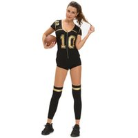 Wholesale DHL new role playing embroidered football clothing women Stage Wear new nightclub performance stage ladies costumes sexy