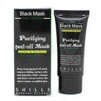 Wholesale Top quality SHILLS Deep Cleansing Black MASK ML Blackhead Facial Mask Shills Peel off face Masks Gift