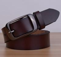 Acheter Femmes boucles de ceinture gros-Vente en gros et au détail Véritable cuir femmes ceinture de la mode vintage métal estampage ceintures de cuir pour femmes sangle femelle boucle