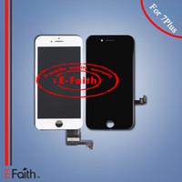 Vente en gros-Pour iPhone 7 Plus Noir Écran LCD blanc Écran tactile Digitizer Panel + Frame Assembly