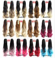 Wholesale Claw Clip Drawstring Ponytail Long Fake Hair Extensions False Hair Pony Tails Horse Tress Curly Hairpieces of Fiber