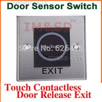 Wholesale Infrared Sensor Switch No Touch Contactless Door Release Exit Button With LED Indication