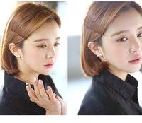 best looking models - In Silver Earrings Korean fashion chic crystal diamond Sun Flower Pearl Earrings gold earrings zircon best looking female models