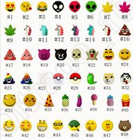 Wholesale Emoji Unicorn Power Bank Cartoon Cute Funny Portable mAh Silicone Phone Charger Expression External Battery Designs OOA1201