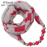 Un chaud d'hiver Bali fil écharpe collier style populaire / Leopard / Star Printing Mode Écharpe
