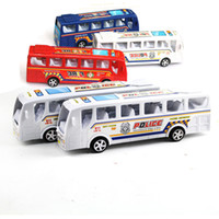 Wholesale Spot mixed batch of hot children s inertia car small toy bus simulation bus inertia