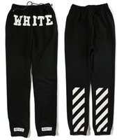 Wholesale fashion OFF WHITE c o Virgil Abloh black Jogger Sweatpants Sweat pants Pyrex Version trousers