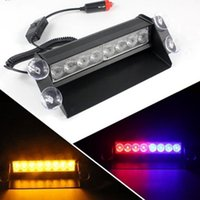 Wholesale Car LED Dash Strobe Deck Flash Emergency Warning Lights NEW hight quality bule red top sale