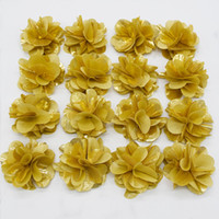 Wholesale 3 inch shiny fabric rose flower Christmas hair flower for newborn baby chic spark garland dance flower scraf accessories fashion headwer