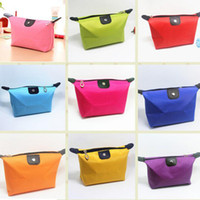 Wholesale Candy Cute Women s Lady Travel Makeup Bags Cosmetic Bag Pouch Clutch Handbag Casual Purses Dumpling Type Cosmetic Gift Purse Fast Shipping
