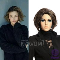 Wholesale women wigs short wave hair high quality fashion female wig lady brown hair full cap woman wigs Japan s hair