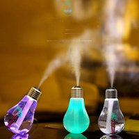 aroma bulb - New ML Bulb Humidifier USB DC V Colors changing Night Light Air Ultrasonic Humidifiers Oil Essential Aroma Diffuser Mist Maker Fogger