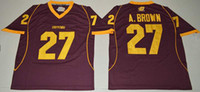 Wholesale Central Michigan Chippewas Antonio Brown Maroon College Football Limited Jerseys New Style Cheap Stitched Jersey