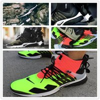 Wholesale 2017 hot sale Acronym Air Presto MID White Black Hot Lava running shoes for men sports shoes size us