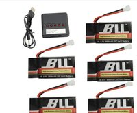 Wholesale 5PCS V mAh battery and in charger for Syma X5S X5SC X5SW RC Quadcopter Drone Spare Parts