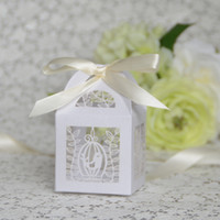 baby gift box manufacturers - Sweet paper box manufacturer laser cut bircage weding candy gift box sweet packaging nets box for baby shower or birthday