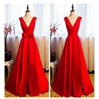 Adoration Robe de soirée rouge A-Line Boucles d'arc détachables Pletis Zipper Floor-Length Real Pictures 2017 Robes de soiree