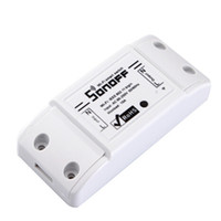 Wholesale sonoff dc220v Remote Control Wifi Switch Smart Home automation Intelligent WiFi Center for APP Smart Home Controls